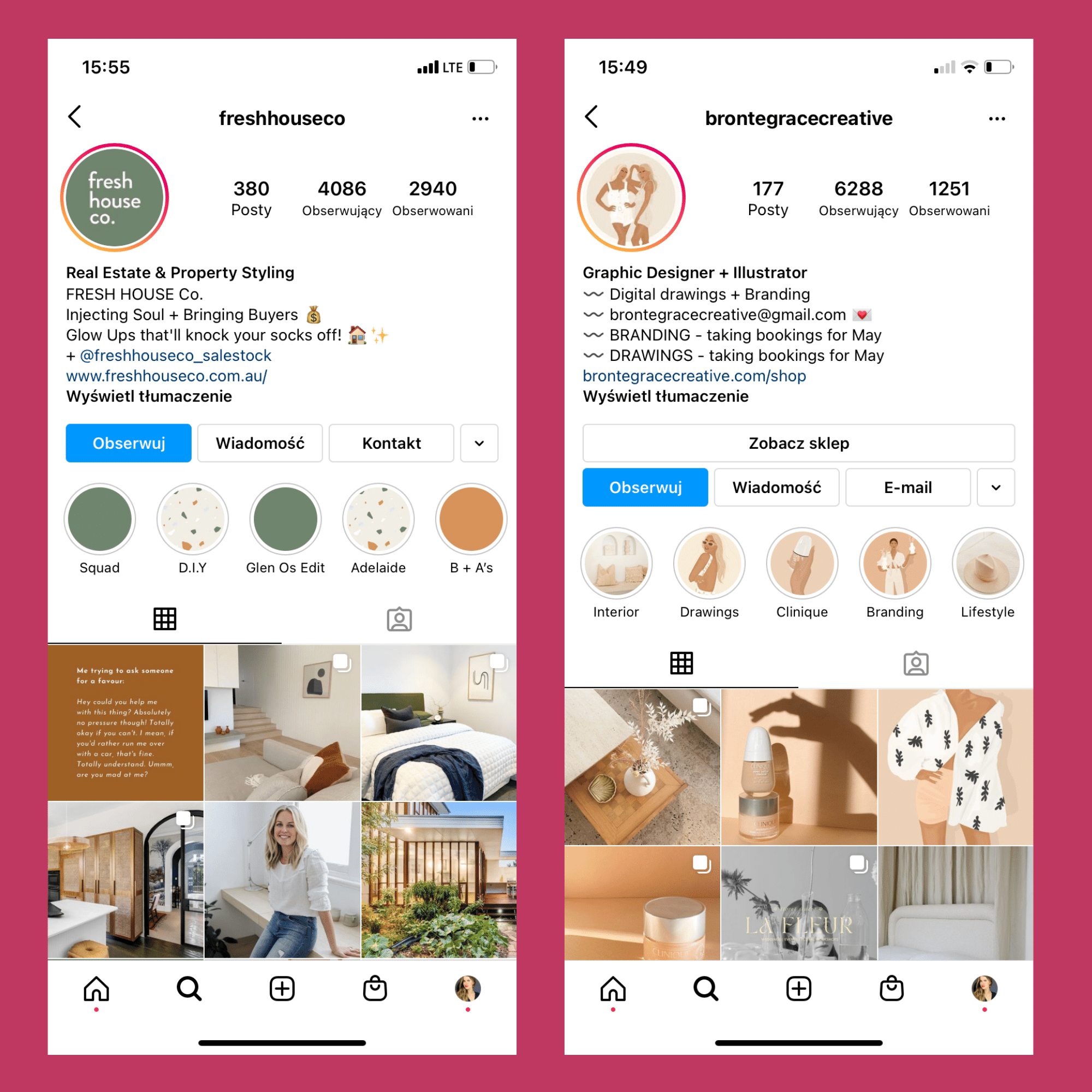 setting up my first account on Instagram